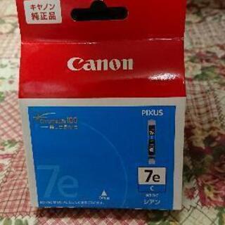 新品 Canonインク7eシアン、ブラック