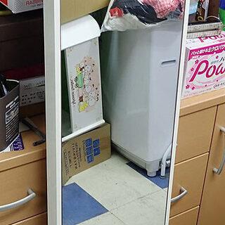 札幌市 白くて長い鏡 150x30cm 中古