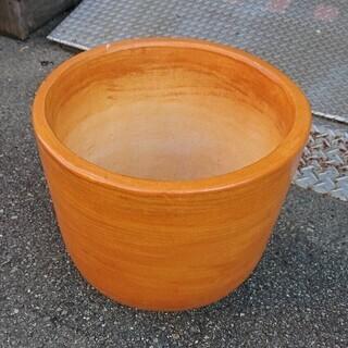 【直径40cm以上】とても大きなオレンジ陶器!花壇や、庭のインテ...