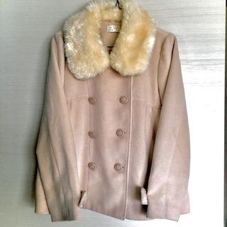ベージュピンクの可愛いa.r.wのコート