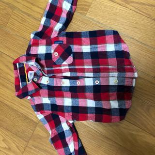 【90cm】チェックシャツ