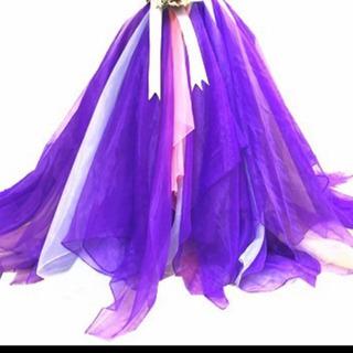 ウェディングドレス オーバースカート