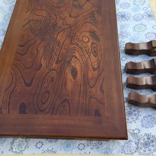 彫刻彫座卓