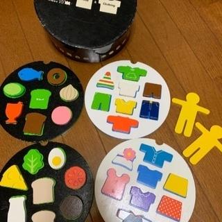 ワールドワイドキッズ英語教材 木製(食べ物と服)