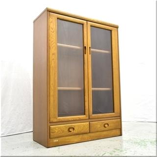 ◆浜本工芸◆天然木ナラ材◆本棚 書棚 書庫キャビネット ミドルボード②