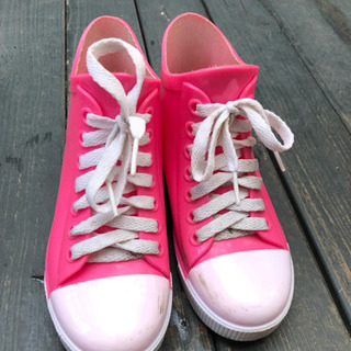 スニーカー風雨靴19cm
