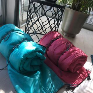 寝袋2個 SET colourブルー&ピンク