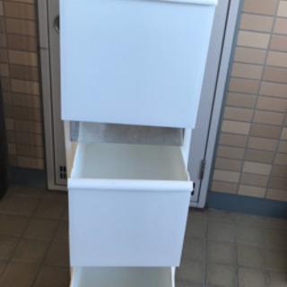 3段ゴミ箱 白 おしゃれ