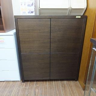 札幌 引き取り 木製 キャビネット ロータイプ 収納棚 プッシュ...