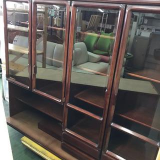 食器棚 W1640 H1930 大収納 ガラス戸