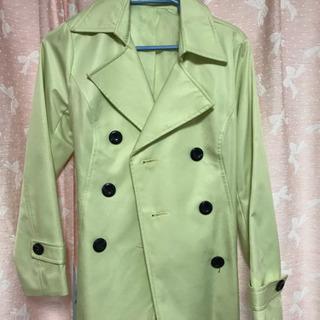 スプリングコート 黄緑 Lサイズ