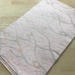 帯 正絹 薄桃 桃色 リサイクル 着物 浴衣 MM98