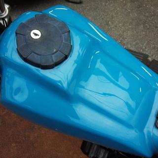 NO.2953 TW200 セル付き ロンスイ&スカチューン スーパートラップマフラー アップハンドル ライトブルー ☆彡 - 売ります・あげます