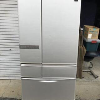 SHARP シャープ 東芝 ノンフロン6ドア冷凍冷蔵庫 シルバー...
