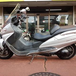 NO.2957 スカイウェーブ250 CJ41A BEAMSステンレスマフラー シルバー ☆彡 - バイク