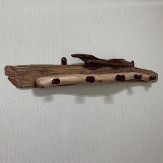 流木のコートハンガー ハンガーラック 木製 ウォールハンガー - 家具