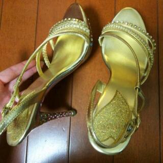 ESPERANZA ゴールド サンダル - 靴/バッグ