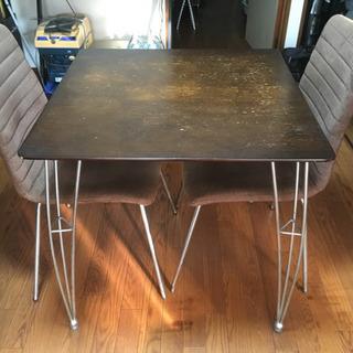 必要な方あげます!(お取引中)ダイニングテーブル・チェア2脚