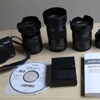 Canon ミラーレス一眼カメラ EOS M3 レンズ4本、バッ...