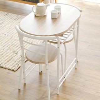 ダイニングテーブル チェア 3点セット ホワイト 美品