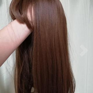 ウィッグ 新品 耐熱 自然 茶髪 亜麻色 セミロング
