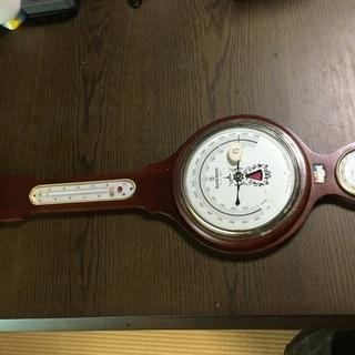 温度湿度計 レトロ