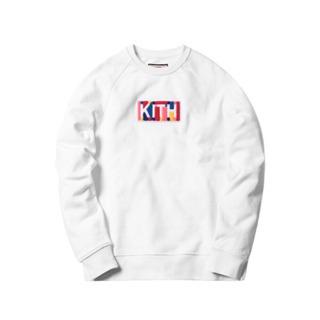 正規品 KITH キス カラーボックスロゴ クルーネック スウェ...