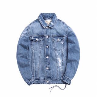 正規品 KITH キス ロゴ ライトデニムジャケット ブルー