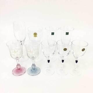 グラス9客セット クリスタル ワイングラス シャンパングラス
