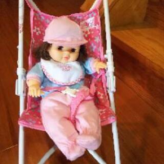お人形&ベビーカー
