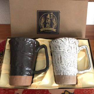 深山窯 麦酒杯 コップ 2個セットです ^ ^