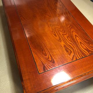 高級 木目 座卓 長机 座敷用 ローテーブル
