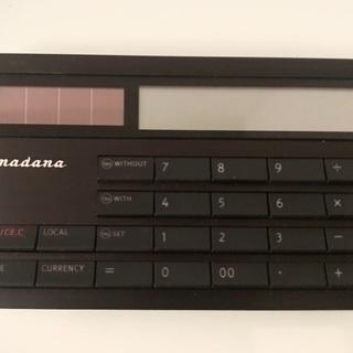 美品 アマダナ 電卓 ブラック 超薄 携帯 ビジネス