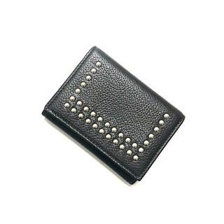 正規品 J&M Davidson 三つ折り財布 スタッズ ブラック