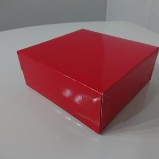 ケーキ箱 ロックBOX65 レッド【50枚セット】