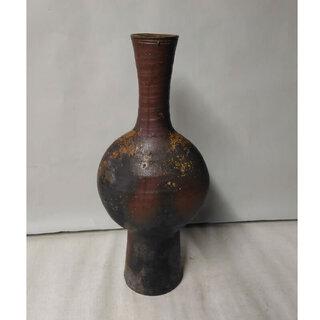 c353 備前焼 壺  花入れ 花器 扁壺 へんこ へんこ壺