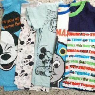 譲ります【0円】ミッキー トーマス 半袖Tシャツ 90~100センチ