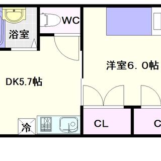 【一楽マンション】1号タイプ!1DKタイプ!ワンフロア1戸の独立部屋☆