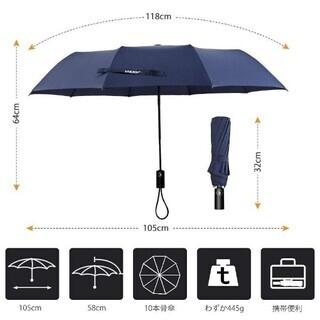 折りたたみ傘 自動開閉 10本骨耐風傘 折れにくい − 岐阜県