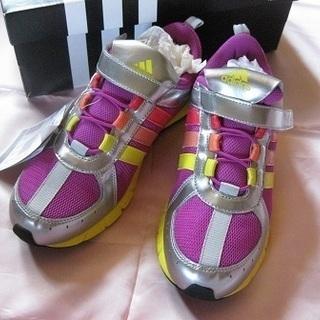 adidas アディダス スニーカー 紫×貴色系 新品・未使用 24㎝