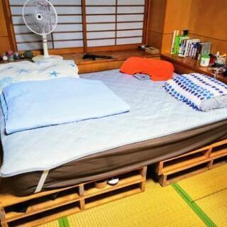 フランスベッド マットレス ワイドダブルサイズ 自作ベッド