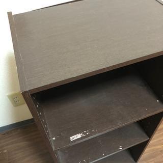 ニトリ 茶色の三段のカラーボックス - 板橋区
