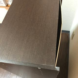 ニトリ 茶色の三段のカラーボックス - 家具