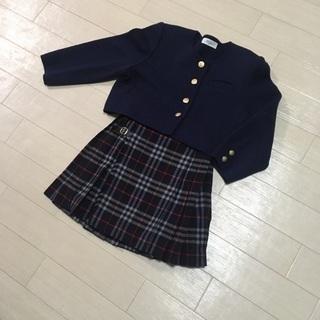 BURBERRYS 巻きスカート&ニットジャケット♪110