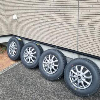 スタッドレスタイヤ バン用 145/80R12LT ダンロップウ...