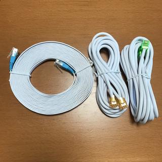 LANケーブルとモジュラーケーブルのセットです