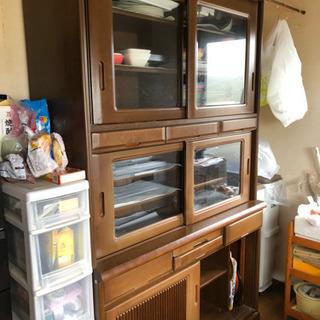 食器棚 ブラウン 無料