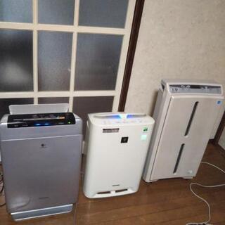 決まりました。空気清浄加湿機三台 0円~3000円でお譲りします。