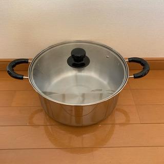 ガス専用蓋付き鍋