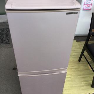 SHARP 137L 2ドア ノンフロン冷凍冷蔵庫 SJ-14R...
